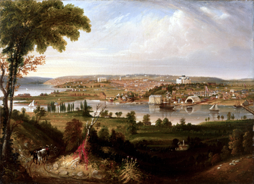 Painting: City of Washington from Beyond the Navy Yard, by George Cooke, 1833