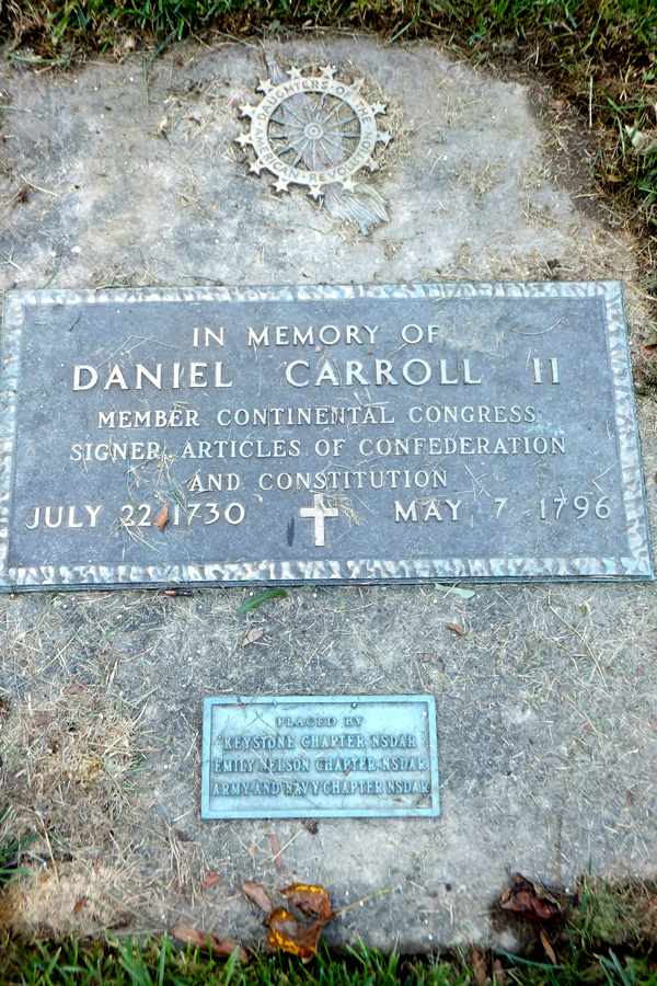 gravestone of Daniel Carroll II, 1730-1796, Carroll Chapel and cemetery, Forest Glen, Maryland