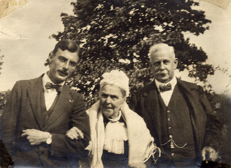Lucy Swainson Miller, center, her grandson Henry Francis, left, and his father, Henry MIller.