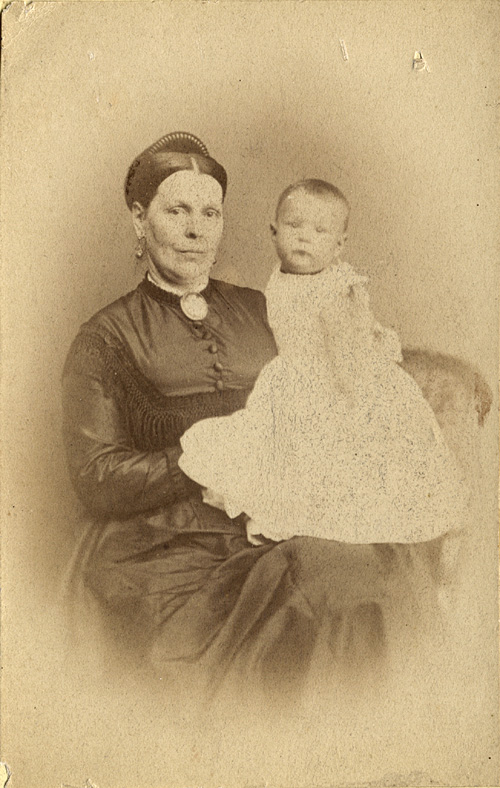 Lucy Swainson Miller holding her son Edwin Swainson Miller