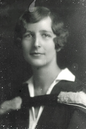 Small photograph  of Marybell Weekes Miller, wife of Charles Scovell Miller.