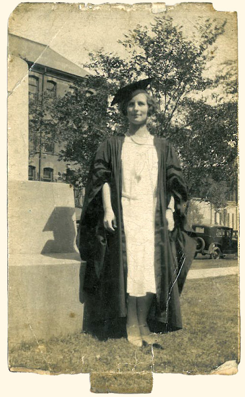 Marybell Weekes Miller, wife of Charles Scovell Miller, graduation picture.